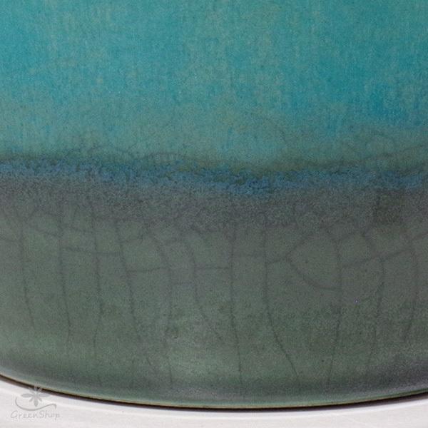プランター おしゃれ 植木鉢 信楽焼 ルフトミドル ターコイズブルー 約5号|hana-kazaru|04