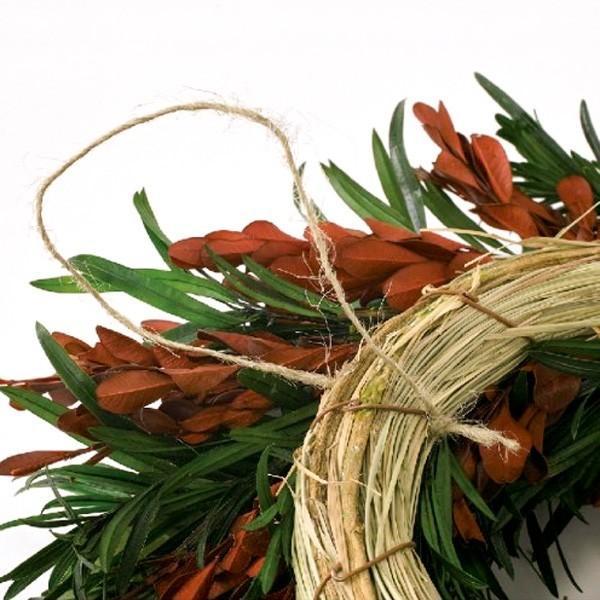 プリザーブドクリスマスリース ワインレッド 直径約34cm hana-kazaru 06
