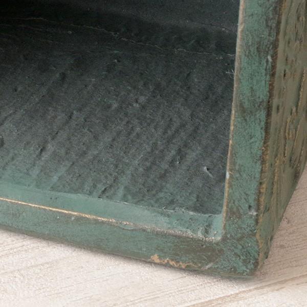 プランター おしゃれ 植木鉢 ファイバークレイ製 ローラアシュレイプランター キューブM グリーン hana-kazaru 04
