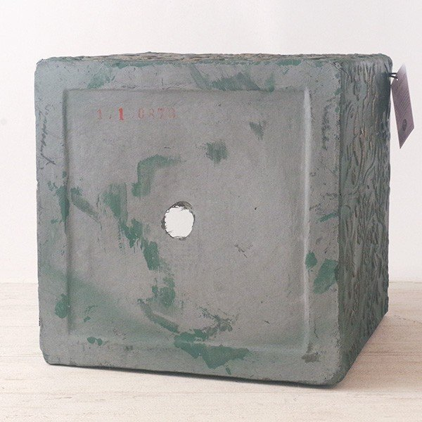 プランター おしゃれ 植木鉢 ファイバークレイ製 ローラアシュレイプランター キューブM グリーン hana-kazaru 05