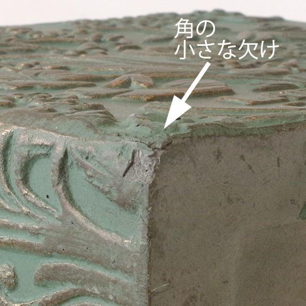 プランター おしゃれ 植木鉢 ファイバークレイ製 ローラアシュレイプランター キューブM グリーン hana-kazaru 07
