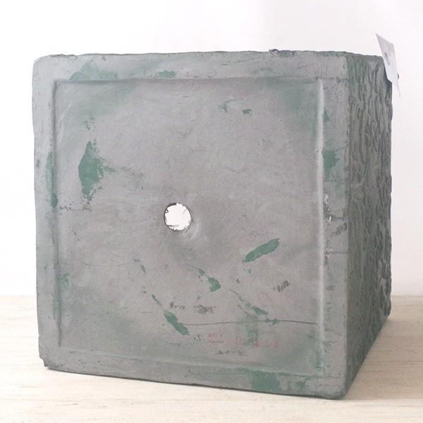 プランター おしゃれ 植木鉢 ファイバークレイ製 ローラアシュレイプランター キューブL グリーン|hana-kazaru|05