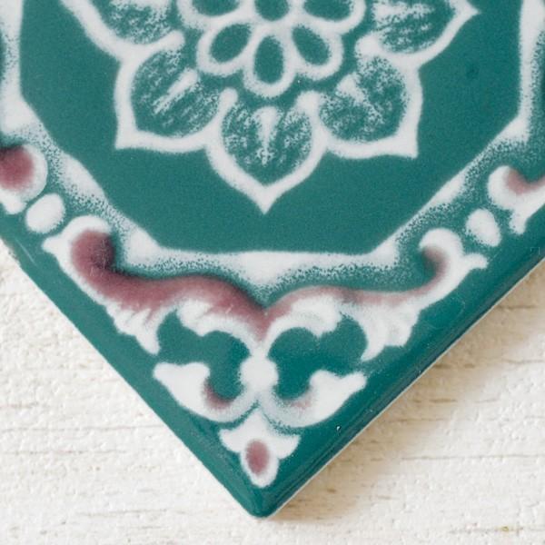 タイル おしゃれ 雑貨 デザインタイル アジアン 約8.4cm 1枚|hana-kazaru|11