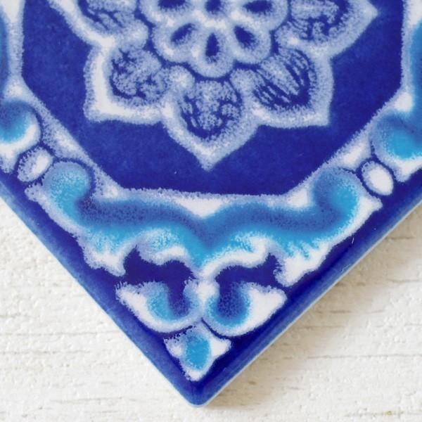 タイル おしゃれ 雑貨 デザインタイル アジアン 約8.4cm 1枚|hana-kazaru|15