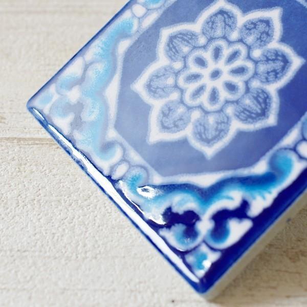 タイル おしゃれ 雑貨 デザインタイル アジアン 約8.4cm 1枚|hana-kazaru|16