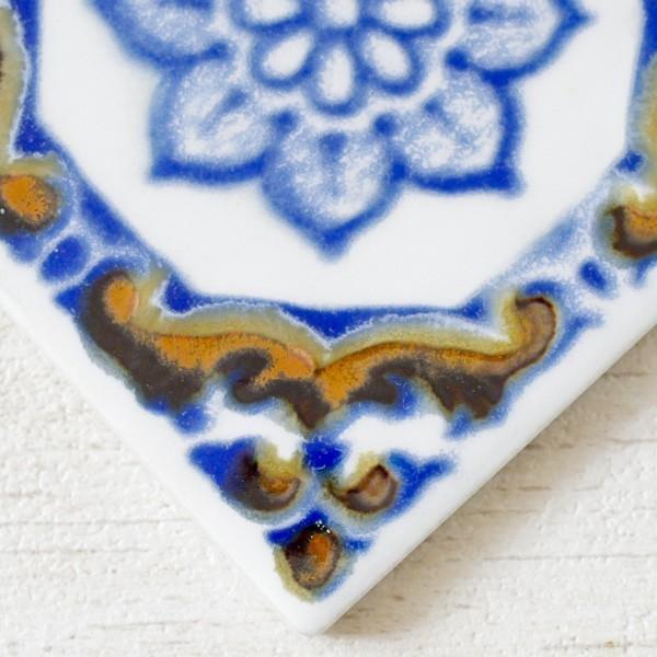タイル おしゃれ 雑貨 デザインタイル アジアン 約8.4cm 1枚|hana-kazaru|03