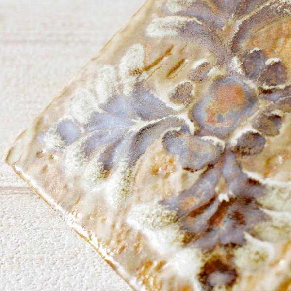タイル おしゃれ 雑貨 デザインタイル クラシカルプランツ 約8.4cm|hana-kazaru|09