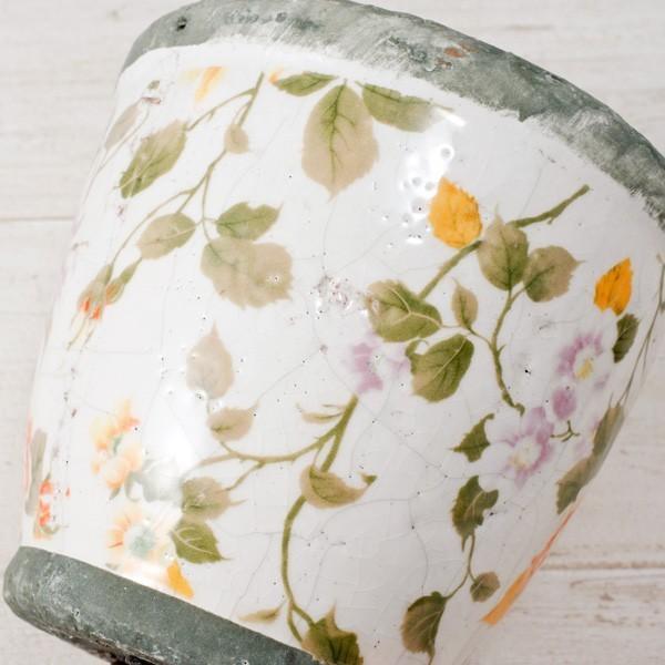 プランター おしゃれ 植木鉢 陶器 ローズフラワープランター 約4号|hana-kazaru|03