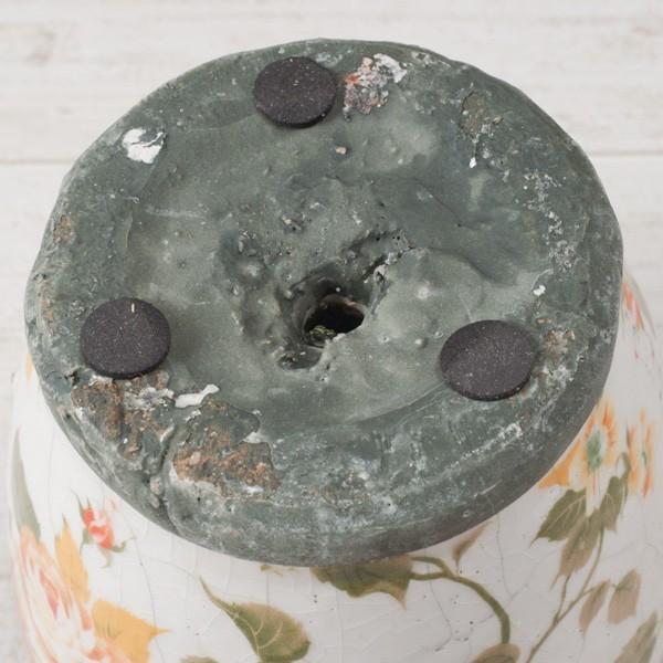 プランター おしゃれ 植木鉢 陶器 ローズフラワープランター 約4号|hana-kazaru|05