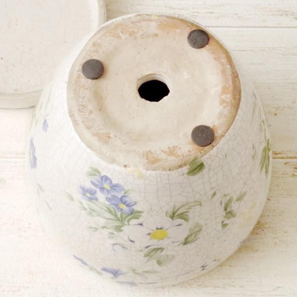 プランター おしゃれ 植木鉢 陶器 ブライトフラワープランター 5号|hana-kazaru|05