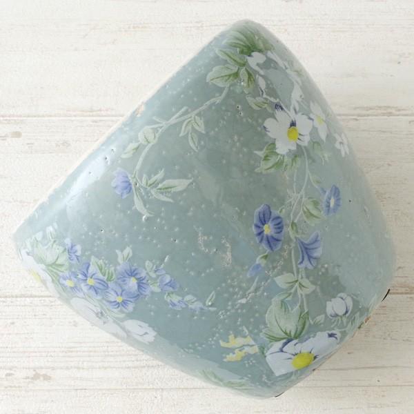 プランター おしゃれ 植木鉢 陶器 ブライトフラワープランター グレー 5号|hana-kazaru|08
