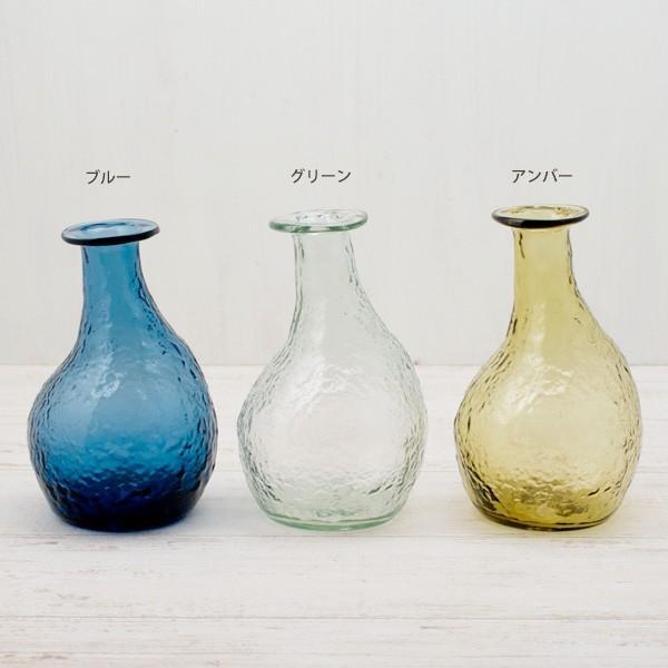 フラワーベース 花瓶 ハンドメイドガラスフラワーベース C|hana-kazaru|02