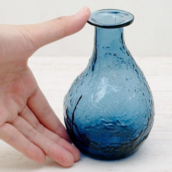 フラワーベース 花瓶 ハンドメイドガラスフラワーベース C|hana-kazaru|06