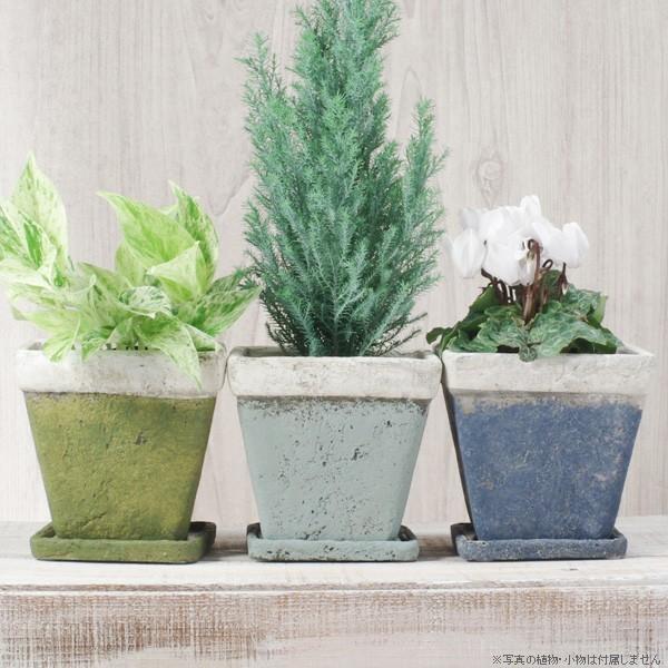 プランター おしゃれ 植木鉢 モンターニュ スクエアプランター 約4.5号|hana-kazaru