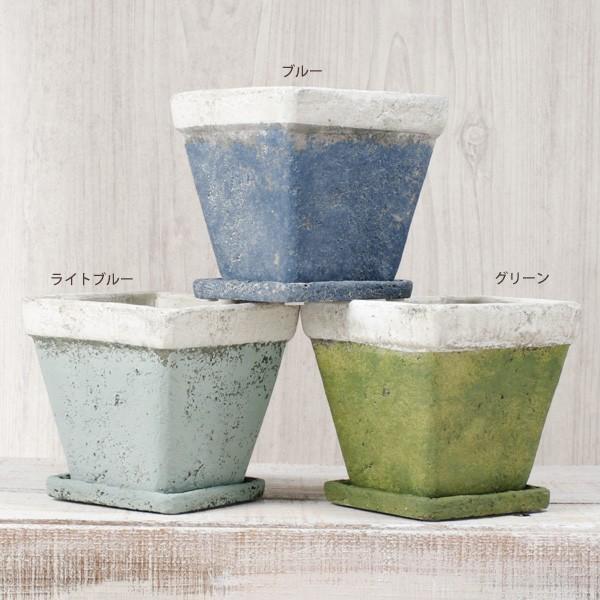 プランター おしゃれ 植木鉢 モンターニュ スクエアプランター 約4.5号|hana-kazaru|02