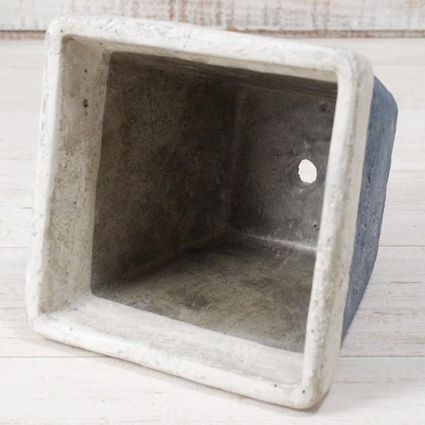 プランター おしゃれ 植木鉢 モンターニュ スクエアプランター 約4.5号|hana-kazaru|04