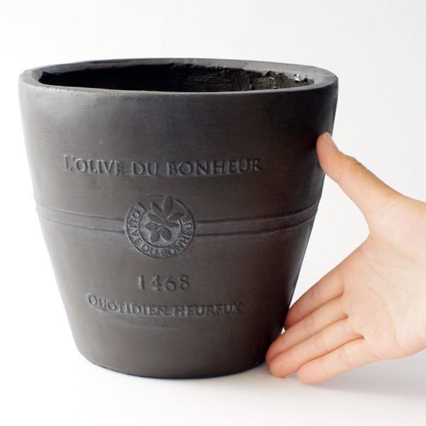 プランター おしゃれ 植木鉢 グラスファイバー製 ボヌールオリーブ 約7号 hana-kazaru 06