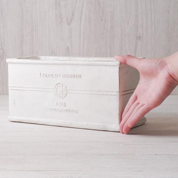 プランター おしゃれ 植木鉢 グラスファイバー製 ボヌールオリーブ・プランター 約W29×D12×H14cm|hana-kazaru|12