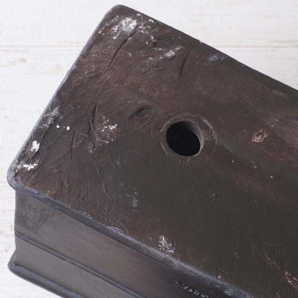 プランター おしゃれ 植木鉢 グラスファイバー製 ボヌールオリーブ・プランター 約W29×D12×H14cm|hana-kazaru|04
