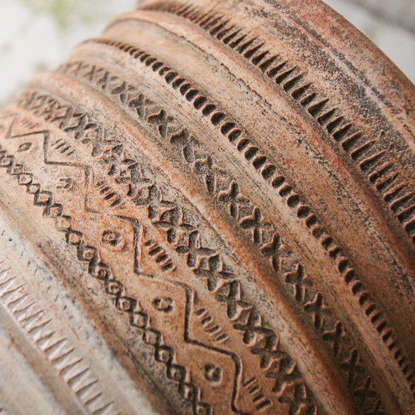 プランター おしゃれ 植木鉢 陶器 リライフラインプランターセット 5号と6.5号|hana-kazaru|03