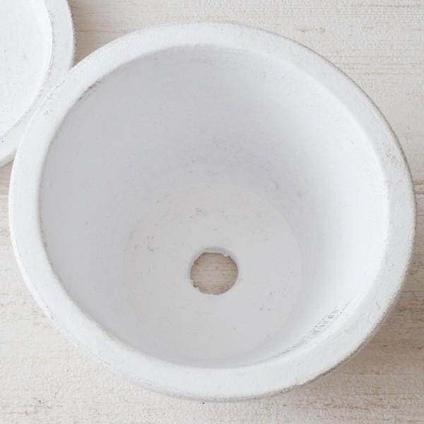プランター おしゃれ 植木鉢 素焼きのシュクレ プティ ラウンド 約4号|hana-kazaru|04