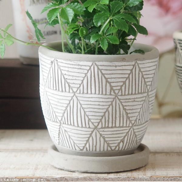 プランター おしゃれ 植木鉢 トライアングルレリーフポット 約4号 hana-kazaru 15