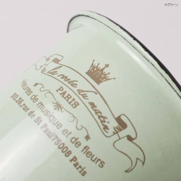 鉢カバー ホーローのアンティーク風ミニカップ|hana-kazaru|04