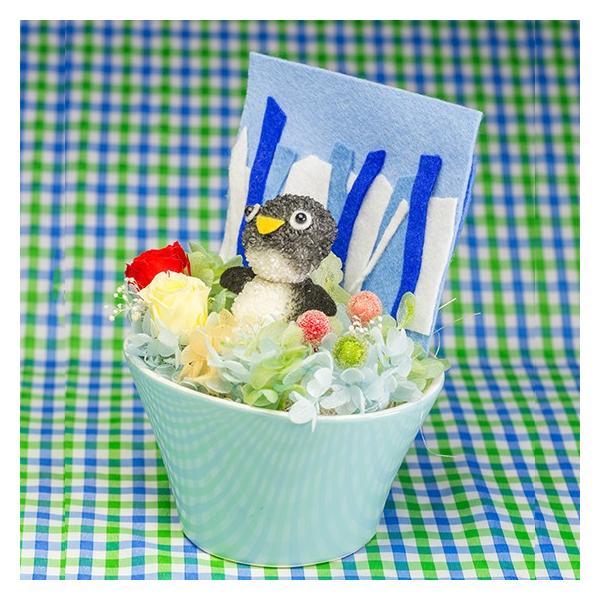 ペンギンまぁむ【送料無料・当日発送・ギフト包装・メッセージカード・一部地域配達】プリザーブドフラワーのプレゼント 誕生日 記念日 お祝い お見舞い お供え|hana-sandlot|02
