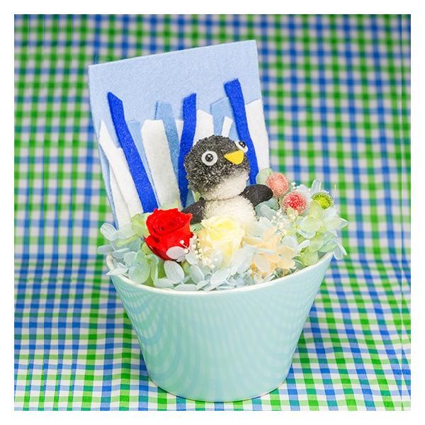 ペンギンまぁむ【送料無料・当日発送・ギフト包装・メッセージカード・一部地域配達】プリザーブドフラワーのプレゼント 誕生日 記念日 お祝い お見舞い お供え|hana-sandlot|03