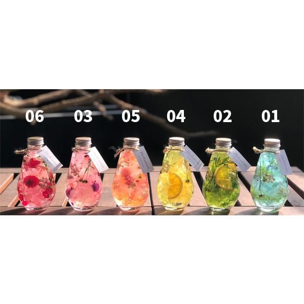 ポチャッとした雫ガラスのハーバリウム ギフト 結婚祝い インテリア装飾に ケース付|hana-zakka|02