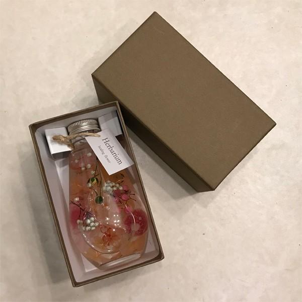 ポチャッとした雫ガラスのハーバリウム ギフト 結婚祝い インテリア装飾に ケース付|hana-zakka|03
