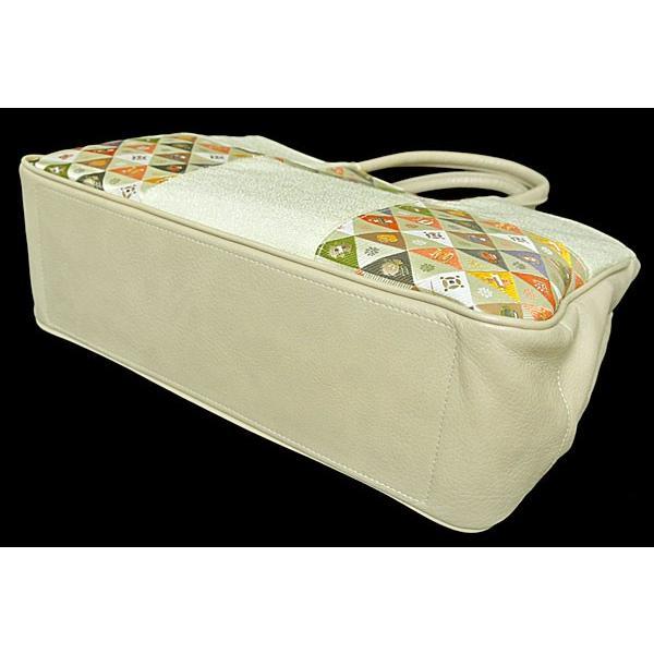 鱗形宝尽模様 バッグ トートバッグ 和装バッグ 手提げ 女性用カジュアルバッグ 2本手バッグ 合皮 送料無料
