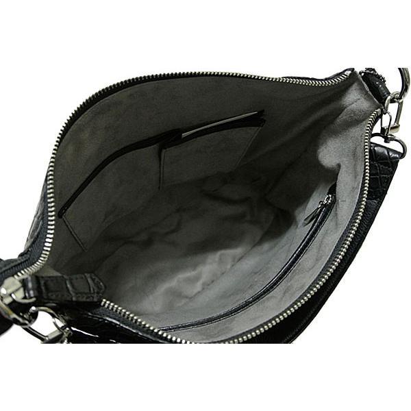 クロコダイルバッグ ショルダーバッグ マット加工 艶消し 高級 ワニ革 ハンドバッグ ブラック レディース メンズ 男女兼用 送料無料