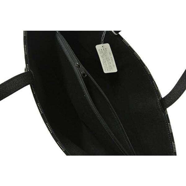 印伝調 バッグ 和装バッグ ハンドバッグ【日本製】手提げバッグ 黒 【流れ桜柄】 540