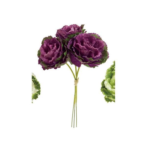 即日 造花 MAGIQ 東京堂  葉牡丹ピック #17 GR/PP 3本 FM001166-017 造花 花材「は行」 ハボタン 葉牡丹