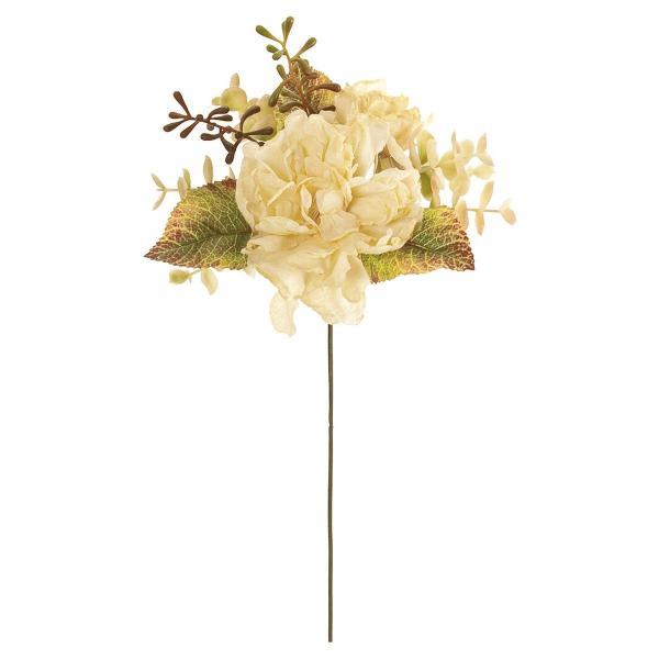 大特価 造花 MAGIQ 東京堂  ドライドピオニーピック CREAM クリーム FM001579-037 造花 花材「さ行」 シャクヤク ボタン ピオニー