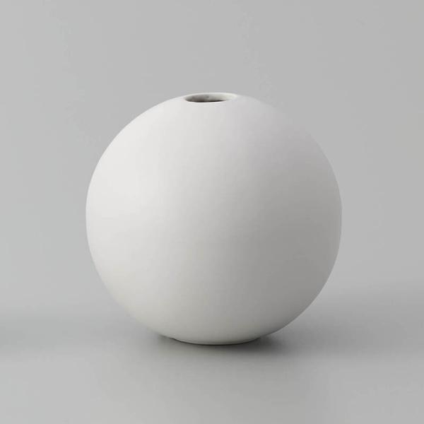 即日 クレイ orb MATT WHITE 326-596-101 花器 花瓶 陶器花器