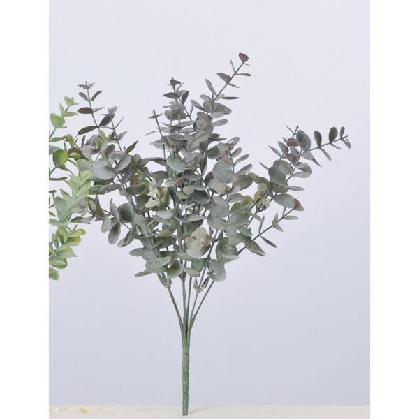 即日 造花 アスカ ユーカリブッシュ #052B ライトグリーン A-43189-052B 造花葉物、フェイクグリーン ユーカリ