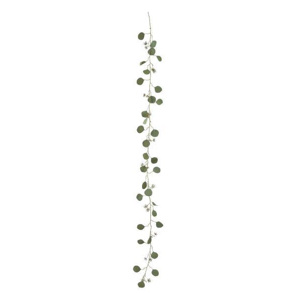 即日 造花 アスカ ユーカリガーランド #051F フロストグリーン A-43376-51F 造花葉物、フェイクグリーン ユーカリ