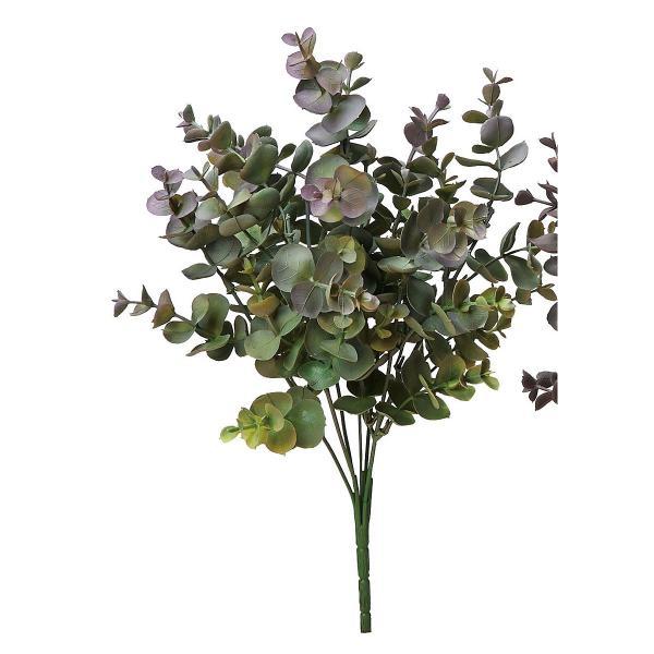造花 アスカ ユーカリブッシュ パープルグリーン A-43575-007G 造花葉物、フェイクグリーン ユーカリ