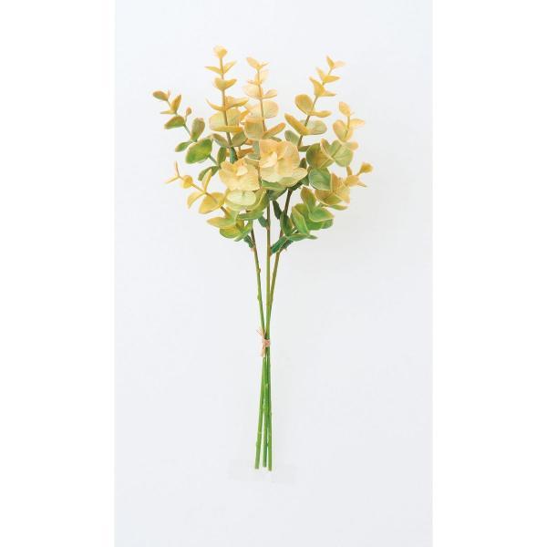 造花 アスカ ミニユーカリバンチ 1束3本  グリーンオレンジ A-43776-51O 造花葉物、フェイクグリーン ユーカリ
