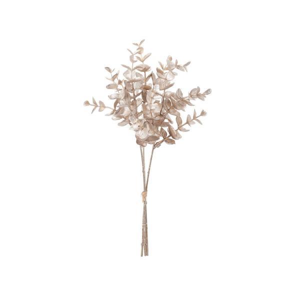造花 アスカ ミニユーカリバンチ 1束3本  シャンペン AX60082-27 造花葉物、フェイクグリーン ユーカリ
