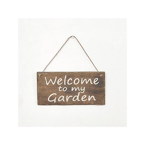 azi-azi サインプレート Welcome to my garden RC-142 雑貨 置物 オーナメント プレート