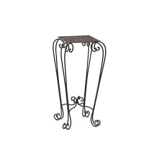 直送 カルチベーター アンティークワイヤーさび色角型花台大 カートン出荷 048338※返品 代引き不可 2個 ガーデン家具 テーブル チェア