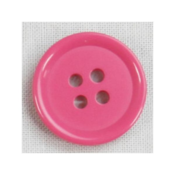 NBK カラーボタン 15mm 8個 ピンク CG1700-15-13 ソーイング資材 ボタン