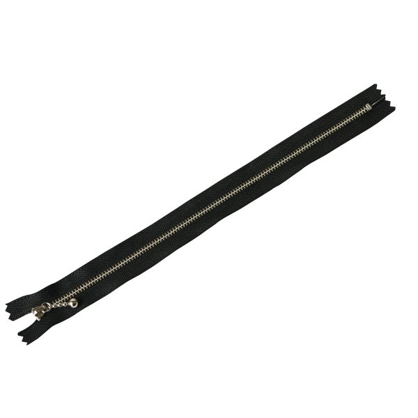 日限定07 NBK 玉付きファスナー シルバー 黒 3N25-580 ソーイング資材 ファスナー