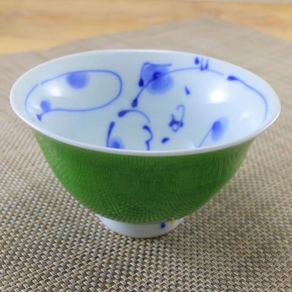 花笑み 有田焼 茶碗 内ネコ(緑) 飯碗 かわいい オリジナル 和食器 猫 hanaemishop 02