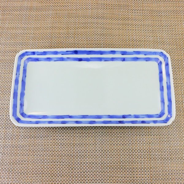 有田焼 焼皿 染付 ライン 焼き皿 オリジナル商品 陶器 和食器 染縞突き出し|hanaemishop|02