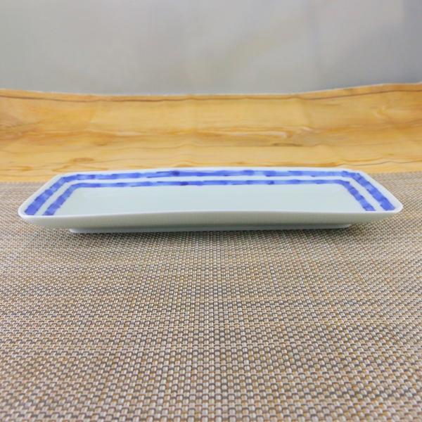 有田焼 焼皿 染付 ライン 焼き皿 オリジナル商品 陶器 和食器 染縞突き出し|hanaemishop|03