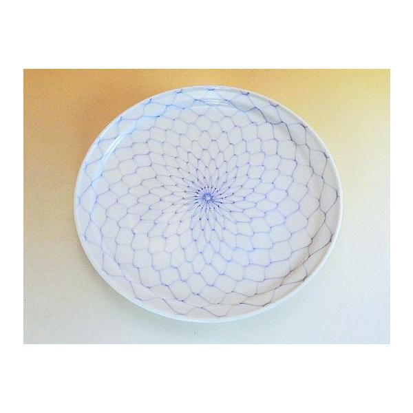 有田焼 網絵6寸皿|染付、陶器、和食器、手描き|hanaemishop